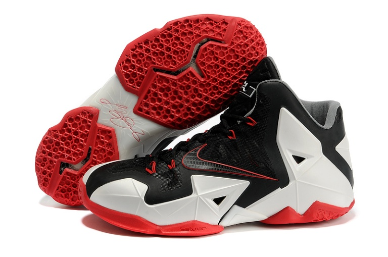 794-Nike LeBron 11 Miami Heat BlackWhiteRed