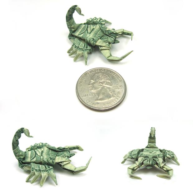 les-magnifiques-origamis-en-billets-de-un-dollar-de-won-park24
