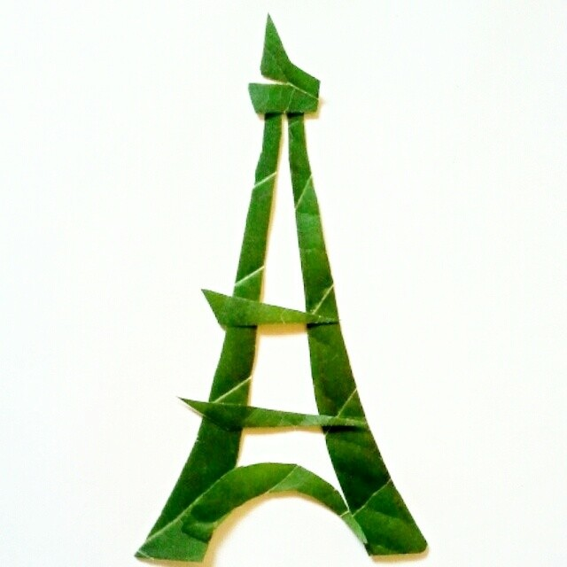 eiffel-tower-leaf-art